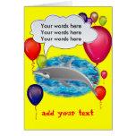 Birthday dolphin greeting card