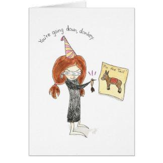 Birthday Donkey Card