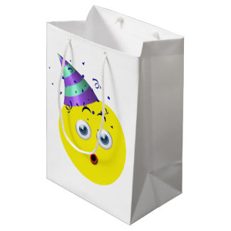 Birthday Emoji Medium Gift Bag