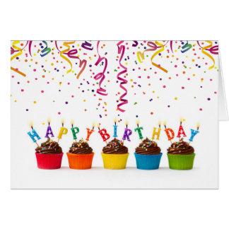 Birthday Fanfare & Streamers Birthday Card