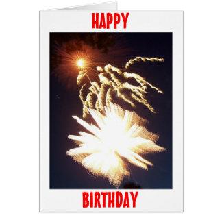 Birthday Fireworks Card