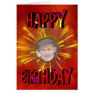 Birthday Fireworks Photo card