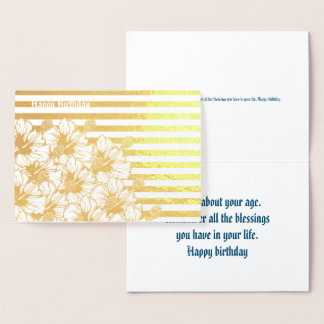 Birthday Foil Card