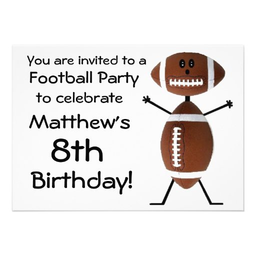 Birthday Football Party Invitation