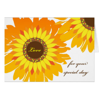 Birthday for Girlfriend, Bright Sunflowers Card