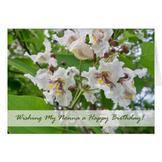 Birthday for Nonna, Catalpa Flowers Greeting Card