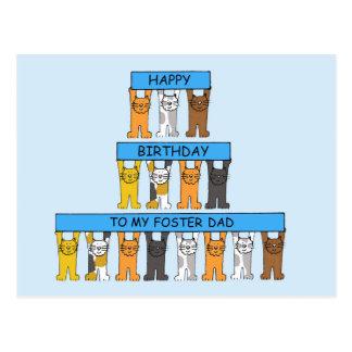 Birthday foster Dad Post Card