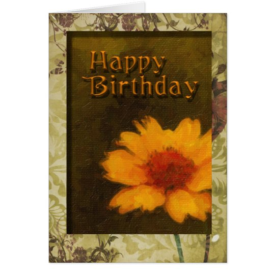 Birthday-Framed flower Card
