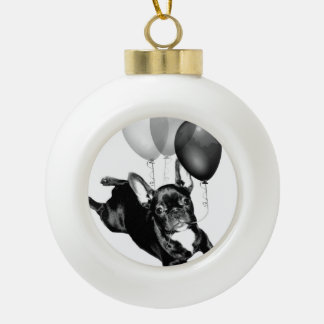 Birthday French Bulldog Ceramic Ball Decoration