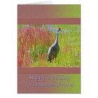 Birthday, Friend,  Sandhill Crane Bird Card