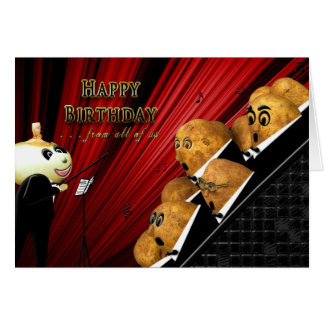 BIRTHDAY - FROM ALL OF US - MUSICIANS - HUMOR CARD