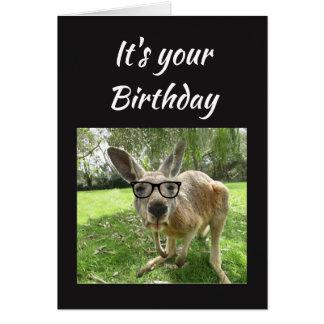 Birthday Fun Kangaroo Australia Animal art Card