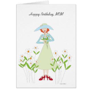 Birthday Garden for mom Greeting Card