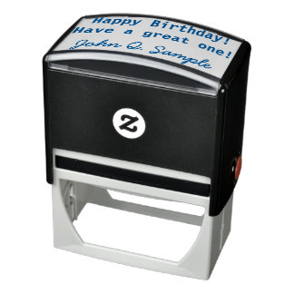 Birthday Geeting with Signature Self-inking Stamp