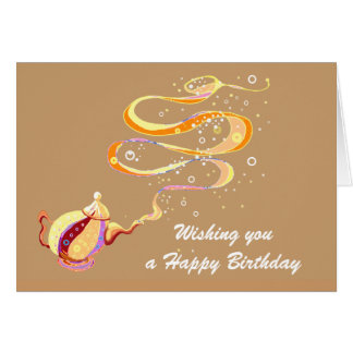 Birthday genie card