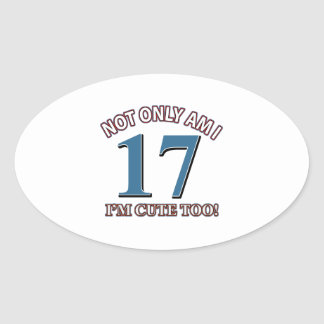 Birthday Girl 17 Oval Stickers
