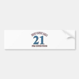 Birthday Girl 21 Bumper Sticker