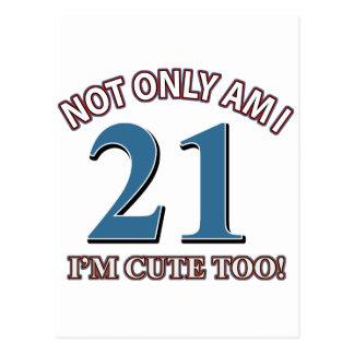 Birthday Girl 21 Postcard