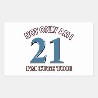 Birthday Girl 21 Rectangle Sticker