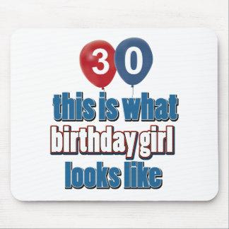 Birthday Girl 30 Mousepad