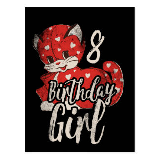 Birthday Girl 8th Birthday Party Postcard