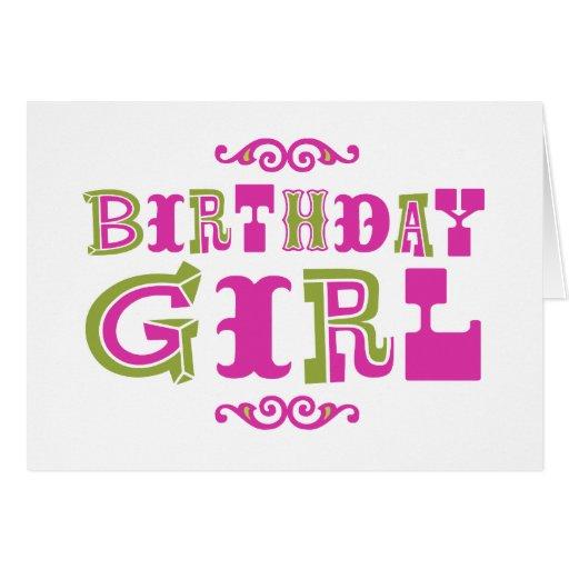 Birthday Girl Cards