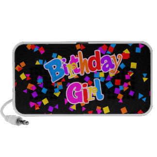 Birthday Girl Celebration Confetti iPhone Speaker