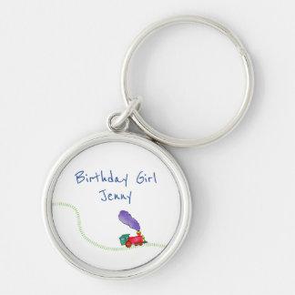 Birthday Girl (child's name) Train Key Ring