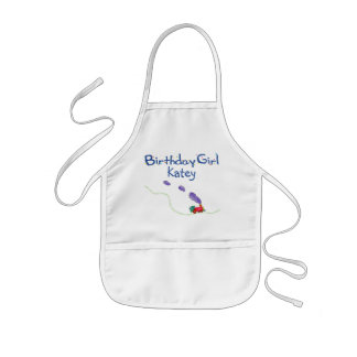 Birthday Girl (child's name) Train Kids Apron
