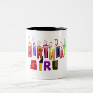 Birthday Girl Colorful Candles Collage Coffee Mug