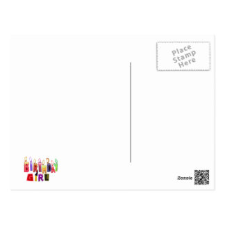 Birthday Girl Colorful Candles Collage Postcards