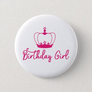 Birthday Girl Crown Queen Button