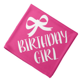 Birthday Girl dog bandana | Pink pet neckerchief