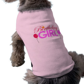 Birthday Girl Dog Sleeveless Dog Shirt