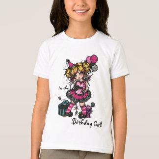 Birthday Girl Fairy Zebra Print Princess Shirt