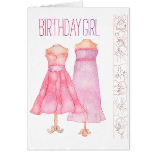 Birthday Girl greeting card