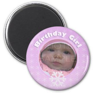 Birthday Girl Photo Winter Onederland Magnet