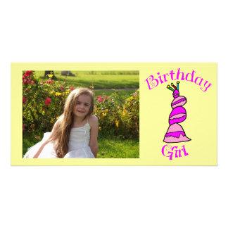 Birthday Girl Custom Photo Card