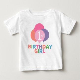Birthday Girl Shirt | Colorful Balloons