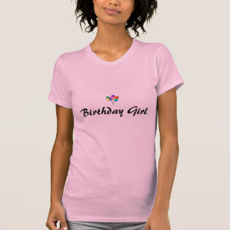 Birthday Girl tee with balloons