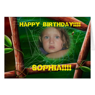 Birthday Girl with Bamboo Greeting Card