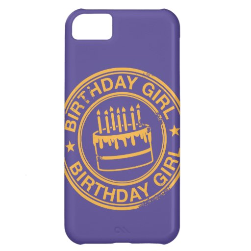 Birthday Girl -yellow rubber stamp effect- iPhone 5C Case