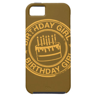 Birthday Girl -yellow rubber stamp effect- iPhone 5 Covers