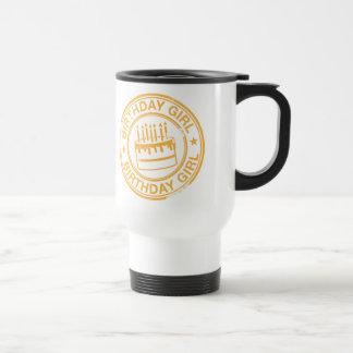 Birthday Girl -yellow rubber stamp effect- Coffee Mug