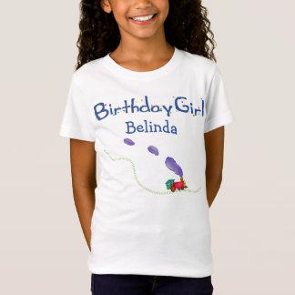 Birthday Girls (child's name) Train T-Shirt