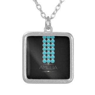 Birthday Glam Gemstones December ID453 Silver Plated Necklace