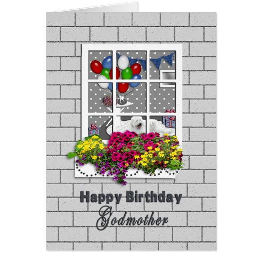 BIRTHDAY - Godmother - OUTSIDE LOOKING IN AT PART Card