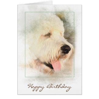 birthday-golden doodle in frame card