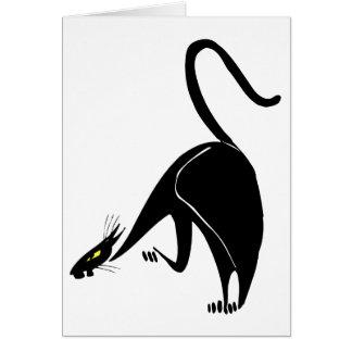 Birthday Graceful Black Cat Stalking Card