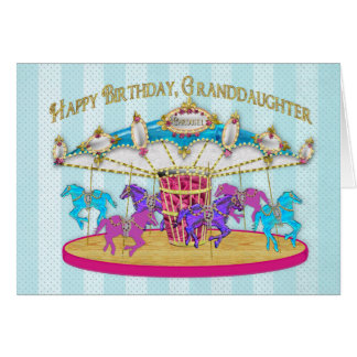 Birthday - Granddaughter - Carousel - Card